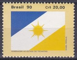 Brasilien Brasil 1990 Staatswesen Verwaltung Bundesstaaten Tocantins Fahnen Flaggen Flags, Mi. 2362 ** - Brasilien