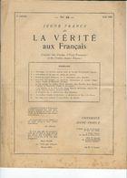 """Imprimés De Soutien  à Pétain  3/8:  """"JEUNE FRANCE DIT LA VERITE AUX FRANCAIS"""" N° 49 Du Courrier Des Cercles UF Et JF - Old Paper"""