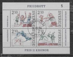 Hoja Bloque De Suecia Nº Yvert HB-14 (o). - Blocks & Kleinbögen