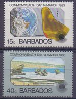 BARBADOS :1983: Y.572,73 Dentelled/neufs/MNH : ## Commonwealth Day 14 March 1983 ## - Barbades (1966-...)
