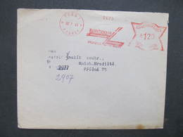 BRIEF Praha 1 Bankoknapp 1943 Frankotype Freistempel Postfreistempel /// N2759 - Böhmen Und Mähren