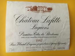 6756 - Château Lafite Laguens 1982 Premières Côtes - Bordeaux