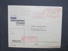 BRIEF Praha 27 Prirucni Jazyk 1940 Frankotype Freistempel Postfreistempel /// N2761 - Böhmen Und Mähren