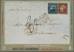 ** Aden - Qu'aiti State In Hadhramaut: 1967, Stamp Exhibition STAMPEX In London Miniature Sheet 65f. Sh - Yemen