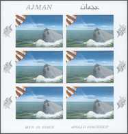 ** Adschman / Ajman: 1964/1969, U/m Accumulation Of Apprx. 74 Sheets (with Apprx. 1.100 Stamps) Incl. I - Ajman