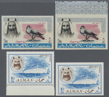 ** Adschman / Ajman: 1964/1968 (ca.), Collection In Stockbook With Different Perf. And Imperf. Stamps/s - Ajman