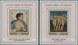** Adschman - Manama / Ajman - Manama: 1971, PAINTINGS (Italian Renaissance) Set Of Eight Different Imp - Manama