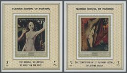 ** Adschman - Manama / Ajman - Manama: 1972, Nude Paintings By Old Masters (Flemish School) Set Of Eigh - Manama