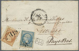 Br Ägypten: 1855/1929, Mail Egypt-France (and Vice Versa), Group Of Ten Covers/cards, Varied Condition, - Egypt