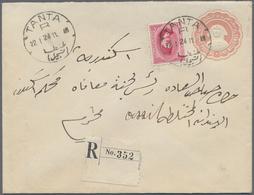 Br Ägypten: 1897/1934: Nice Lot Of 20 Envelopes And Postal Stationeries Including Registered, Postage D - Egypt