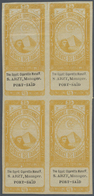 "(*) Ägypten - Besonderheiten: 1890s, FISCALS ""Cigarette Stamps"", Collection Of 35 Different Blocks Of Fo - Egypt"