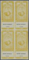 "(*) Ägypten - Besonderheiten: 1890s, FISCALS ""Cigarette Stamps"", Collection Of 18 Different Blocks Of Fo - Egypt"