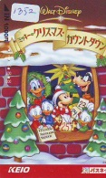 Carte Prépayée Japon * DISNEY ( 1352)  CHRISTMAS  * NOEL * JAPAN PREPAID CARD * WEIHNACHTEN - Disney