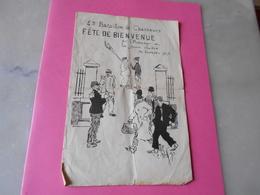 4 Eme Bataillon De Chasseurs  Fete De Bienvenue  En L'Honneur De La Jeune Classe  30 Octobre 1913  Programme - Libri, Riviste & Cataloghi