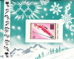 Mongolia 1984 MNH Scott #1354 Souvenir Sheet 4t Ski Jumper Winter Olympics Sarajevo - Mongolie