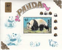 Mongolia 1990 MNH Scott #1776 Souvenir Sheet 4t Giant Panda - Mongolie