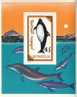 Mongolia 1990 MNH Scott #1861A Souvenir Sheet 4t Killer Whale - Mongolie