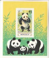 Mongolia 1990 MNH Scott #1887 Souvenir Sheet 4t Giant Panda - Mongolie