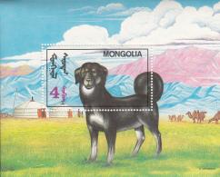 Mongolia 1992 MNH Scott #2052 Souvenir Sheet 4t Dog - Mongolie