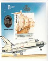 Mongolia 1992 MNH Scott #2102 Souvenir Sheet 80t Sailing Ship Discovery Of America - Mongolie