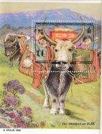 Mongolia 1998 MNH Scott #2268 Souvenir Sheet 800t Mongolian Yaks - Mongolie