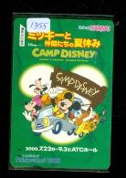 Carte Prépayée Japon * DISNEY ( 1355) CAMP DISNEY * KANSAI * JAPAN PREPAID CARD - Disney