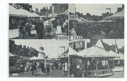 Postcard Middlesex Pinner Fair Multiview. Used In 1980 Posted Gwent. - Middlesex