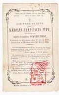 DP Karolus Fr. Pype ° Geluwe Wervik 1797 † Menen Menin 1864 X Amelia S. DeMyttenaere - Devotion Images