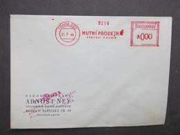 BRIEF Praha 022 Hutni Prodejna 1949 Frankotype Freistempel Postfreistempel /// N2804 - Tschechoslowakei/CSSR
