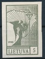 Mi 457 B  ** MNH Angel Of Freedom Liberty Imperforated - Lituania