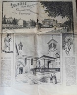 VALENCE (DRÔME) LE PROGRÈS ILLUSTRÉ DU DIMANCHE 21 AOÛT 1892- DESSINS VALENCE PLACE CHAMPIONNET ET CATHÉDRALE. - Religion