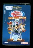 Carte Prépayée Japon * DISNEY ( 1358) MICKEY'S HOUSE MOUSE *  JAPAN PREPAID CARD - Disney