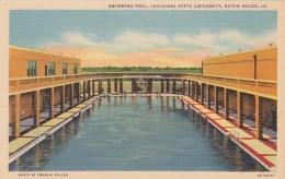 Louisiana Baton Rouge Swimming Pool Louisiana State University Curteich - Baton Rouge
