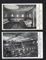 2 X EMPREZA NACIONAL De NAVEGAÇÃO, Serviço Para AFRICA - Sala De Jantar. Ship Interior Smoking Room SET 2 Old Postcards - Bateaux
