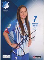 Original Women Football Autograph Card MARTINA MOSER Frauen Bundesliga 2015 / 16 TSG HOFFENHEIM - Authographs