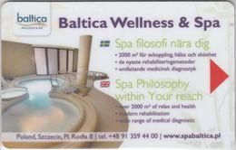 POLONIA KEY HOTEL SHIPPING COMPANY  Unity Line - Baltica Wellnes & Spa - Cartes D'hotel