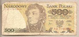 Polonia - Banconota Circolata Da 500 Zloty P-145d - 1982 - Polonia