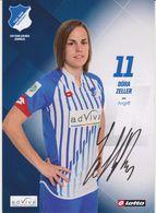 Original Women Football Autograph Card DORA ZELLER Frauen Bundesliga 2015 / 16 TSG HOFFENHEIM - Autographes