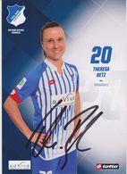 Original Women Football Autograph Card THERESA BETZ Frauen Bundesliga 2015 / 16 TSG HOFFENHEIM - Autographes
