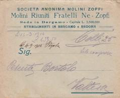 FATTURA COMMERCIALE - CON MARCA DA BOLLO DA CENT. 10 - SOCIETA' ANONIMA - MOLINI ZOPFI - REDONA BERGAMO - Italia