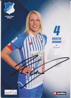 Original Women Football Autograph Card KRISTIN DEMANN Frauen Bundesliga 2015 / 16 TSG HOFFENHEIM - Authographs