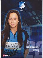 Original Women Football Autograph Card SELINA HAFELE Frauen Bundesliga 2016 / 17 TSG HOFFENHEIM - Authographs