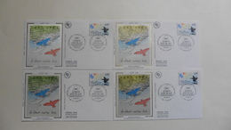 France : FDC :1 Er Jour :  Débarquement Et Bataille De Provence 1994   : N° 2895 : 4 Enveloppes - 1990-1999