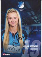 Original Women Football Autograph Card JUDITH STEINERT Frauen Bundesliga 2016 / 17 TSG HOFFENHEIM - Authographs