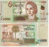 URUGUAY  New  1'000 Pesos Uruguayos Pnew  2015 (2017)  Added Map Of Uruguay  UNC - Uruguay