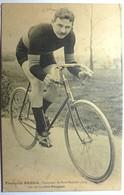 """F - FABER - VAINQUEUR DE PARIS ROUBAIX 1913 SUR SA BICYCLETTE """" PEUGEOT """" - Cyclisme"""