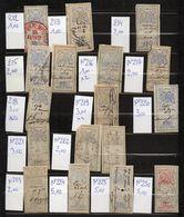 DT159 FRANCE 17 TIMBRES OBL  FISCAL FISCAUX REVENUE REVENUES EFFETS COMMERCE - Revenue Stamps