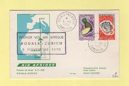 Cameroun - Premier Vol Air Afrique Douala Zurich - 5 Novembre 1970 - Cameroun (1960-...)