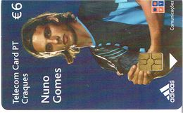 PHONECARDS-PORTUGAL --- TLP CARD- 6€-- CRAQUES--NUN0 GOMES - Portugal