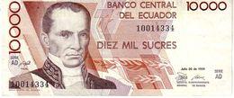 Ecuador P.127 10000 Sucres 1988 Xf - Ecuador